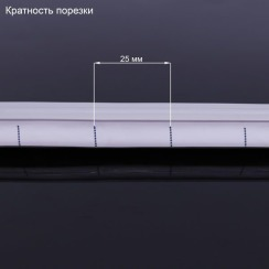 Светодиодный неон 12В 2835-120 W IP67 холодный белый, герметичный, 1м. Фото 2
