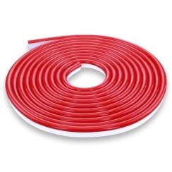 Светодиодный неон 12В 2835-120 R IP67 красный, герметичный, 1м