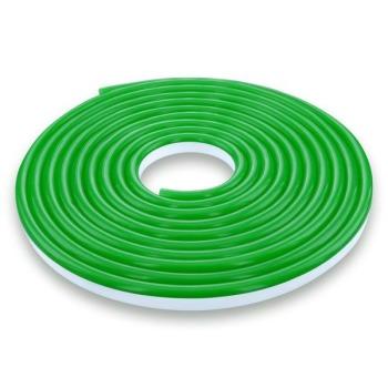 Світлодіодний неон 12В 2835-120 G IP67 зелений, герметичний, 1м