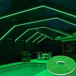 Світлодіодний неон 12В 2835-120 G IP67 зелений, герметичний, 1м. Фото 5