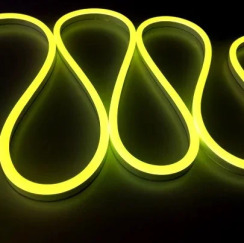 Світлодіодний неон Standart SMD 2835 120 led IP67 220V лимонний LY