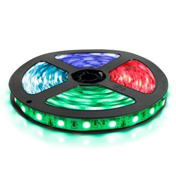 Світлодіодна стрічка Biom 5050-60 IP20 RGB, негерметична, 1м