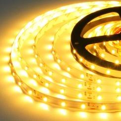 Світлодіодна стрічка Biom 2835-60 IP65 WW теплий білий, герметична, 1м. Фото 4