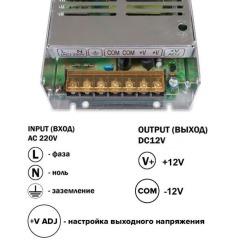 Блок живлення Biom DC12 150W 12,5А TR150-12. Фото 3