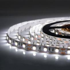 Світлодіодна стрічка Biom 5050-60 IP65 W холодний білий, герметична, 1м. Фото 3