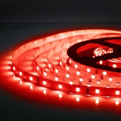 Світлодіодна стрічка Biom 2835-60 IP20 R червоний, негерметична, 1м. Фото 3