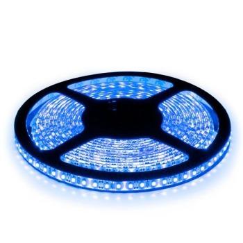 Светодиодная лента Biom 2835-120 IP65 B синий, герметичная, 1м