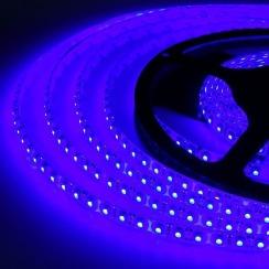 Светодиодная лента Biom 2835-120 IP65 B синий, герметичная, 1м. Фото 3