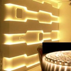 Светодиодная лента BIOM Professional 5050-60 WW тёплый белый, негерметичная, 1м. Фото 5