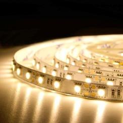 Светодиодная лента BIOM Professional 5050-60 WW тёплый белый, негерметичная, 1м. Фото 4