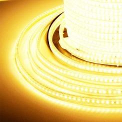 Светодиодная лента JL 3014-120 220В IP68 тёплый белый, герметичная, 1м. Фото 3
