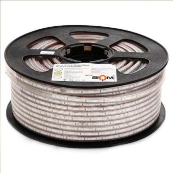 Светодиодная лента JL 5730-52 WW 220В IP68 тёплый белый, герметичная, 1м