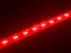 Світлодіодна лінійка 5630-72 led R 22W 12V IP20 червоний. Фото 2