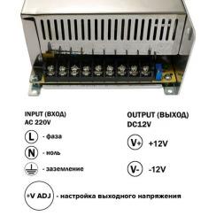 Блок живлення Biom DC12 500W 41А TR500-12. Фото 3