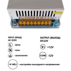 Блок питания Biom DC12 800W 66,7А TR800-12. Фото 3