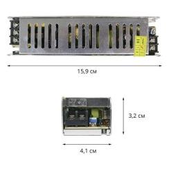 Блок питания Biom DC12 60W 5А STR-60 узкий. Фото 2