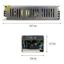 Блок питания Biom DC12 120W 10А STR-120 узкий. Фото 2