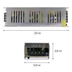 Блок живлення Biom DC12 150W 12,5А STR-150 вузький. Фото 2