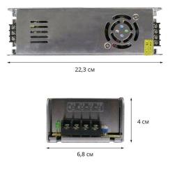 Блок питания Biom DC12 360W 30А STR-360 узкий. Фото 2