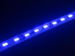 Світлодіодна лінійка 5630-72 led B 22W 12V IP20 синій. Фото 2