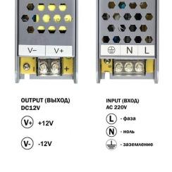 Блок живлення BIOM Professional DC12 100W BPU-100 8,3А. Фото 3