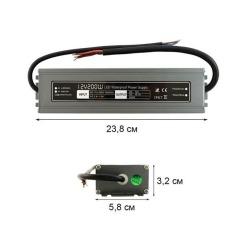 Блок питания BIOM Professional DC12 200W WBP-200 16,6А герметичный. Фото 2