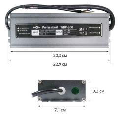 Блок питания BIOM Professional DC12 300W WBP-300 25А герметичный. Фото 2