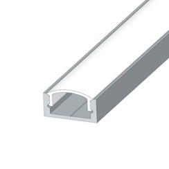 Профіль алюмінієвий LED BIOM ЛП7 7х16, неанодований (палка 2м) + розсіювач (комплект), м