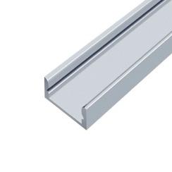 Профіль алюмінієвий LED BIOM ЛП7 7х16, анодований (палка 2м) + розсіювач (комплект), м