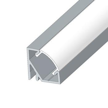 Профіль алюмінієвий LED BIOM кутовий ЛПУ17 17х17 неанодований (палка 2м) + розсіювач (комплект), м