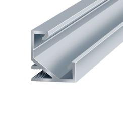 Профиль аллюминиевый LED BIOM угловой ЛПУ17 17х17 неанодированный (палка 2м) + рассеиватель (комплект), м. Фото 2