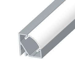 Профиль аллюминиевый LED BIOM угловой ЛПУ17 17х17 анодированный (палка 2м) + рассеиватель (комплект), м. Фото 3