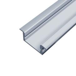 Профіль алюмінієвий LED BIOM врізний ЛПВ7 7х16, анодований (палка 2м) + розсіювач (комплект), м