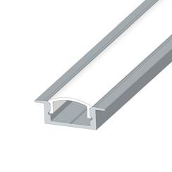 Профіль алюмінієвий LED BIOM врізний ЛПВ7 7х16, анодований (палка 2м) + розсіювач (комплект), м. Фото 3