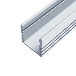 Профиль алюминиевый анодированный LED LP-12 + рассеиватель (комплект), м