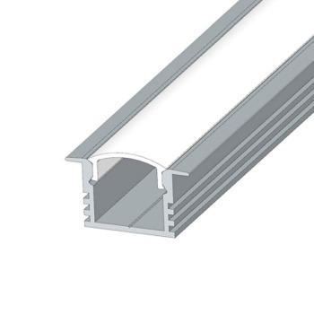 Профіль алюмінієвий анодований LED LPV-12 + розсіювач (комплект), м
