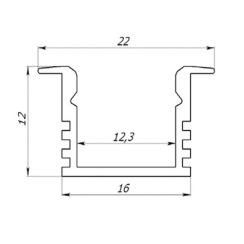 Профіль алюмінієвий анодований LED LPV-12 + розсіювач (комплект), м . Фото 3