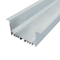 Профиль алюминиевый BIOM ЛСВ-55 32*55мм анодированный + рассеиватель (комплект), 1м