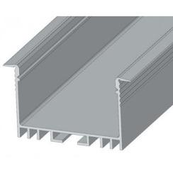 Профиль алюминиевый BIOM ЛСВ-40 40*30мм анодированный + рассеиватель (комплект), 1м. Фото 3