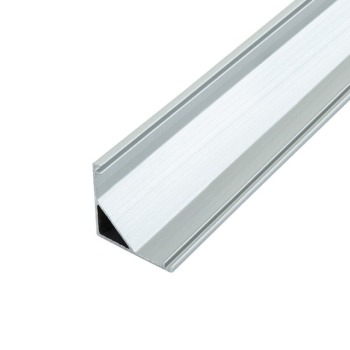 Профиль алюминиевый BIOM угловой ЛПУ16 16х16 анодированный (палка 2м) + рассеиватель (комплект), м