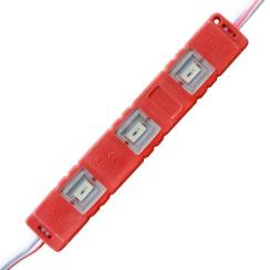 Светодиодный модуль Biom 5630-3 led R 1W, 12В, IP65 красный с линзой