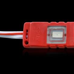 Светодиодный модуль Biom 5630-3 led R 1W, 12В, IP65 красный с линзой. Фото 4