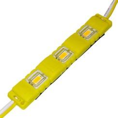 Светодиодный модуль Biom 5630-3 led Y 1W, 12В, IP65 жёлтый с линзой