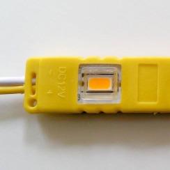 Светодиодный модуль Biom 5630-3 led Y 1W, 12В, IP65 жёлтый с линзой. Фото 3
