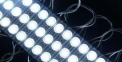 Світлодіодний модуль Biom 5730 3 led W 1,5W 6500K, 12В, IP65 білий з лінзою. Фото 2