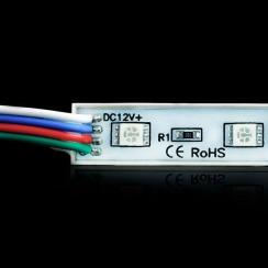 Светодиодный модуль Biom 5050-3 led RGB 0,72W, 12В, IP65. Фото 4