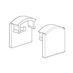 Заглушка BIOM для профілю ЛП7 6х15.5мм
