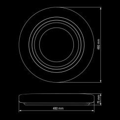 Світильник світлодіодний Biom SMART SML-R11-80 3000-6000K 80Вт з д/к. Фото 5