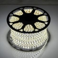 Светодиодная лента 2835 120 Led/m W 220В IP68 холодная белая, герметичная, 1м