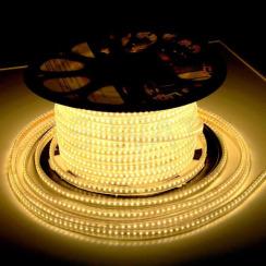Світлодіодна стрічка 2835 120 Led/m WW 220В IP68 тепла біла, герметична, 1м